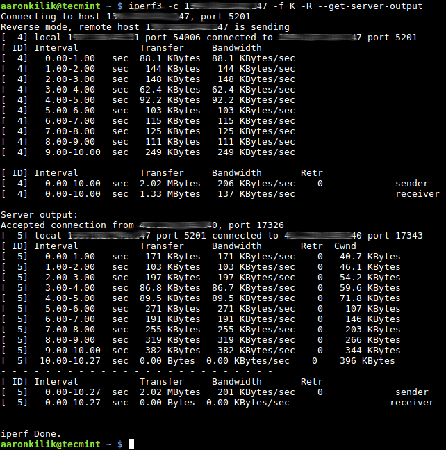 Get Server Network Results in Client