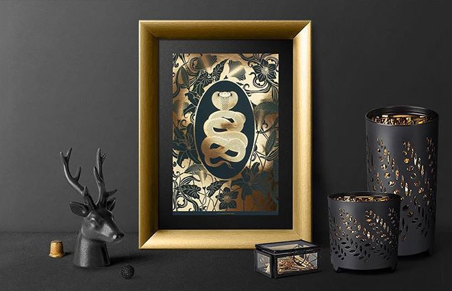 Gold Foil Art Prints by The Curious Department