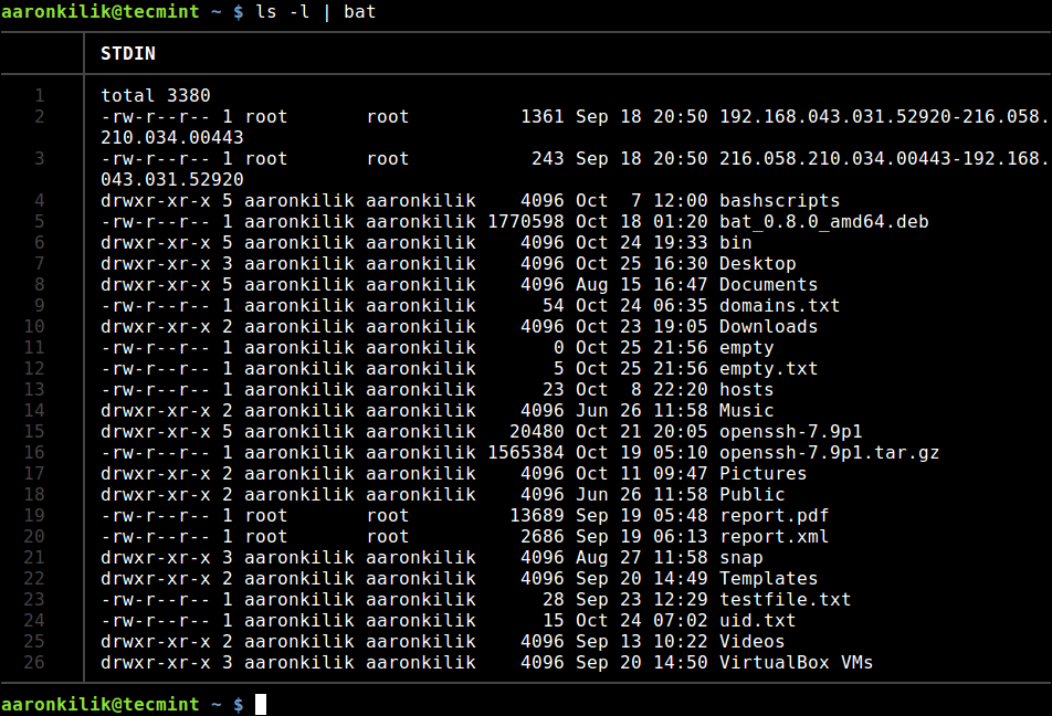 Read from Stdin Output