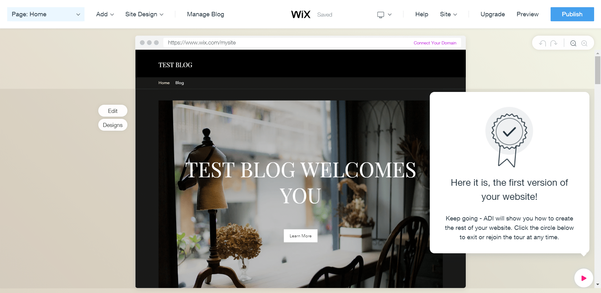 Creating a Site on Wix: Customizing Elements
