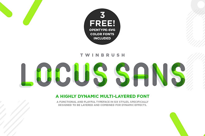 Locus Sans Display and Color Font
