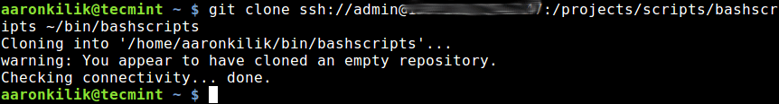 Clone Shared Git Repository to Local