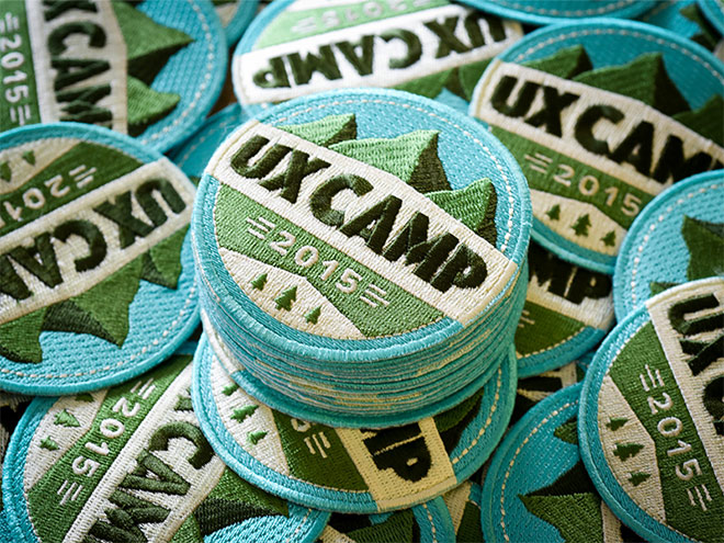 Embroidered Patches for UX Camp by Maria Matveeva