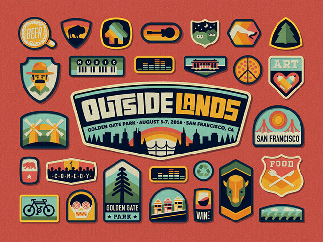 Outside Lands Festival Branding by DKNG