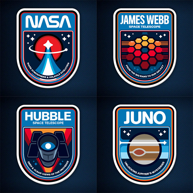 NASA Mission Patches by James White