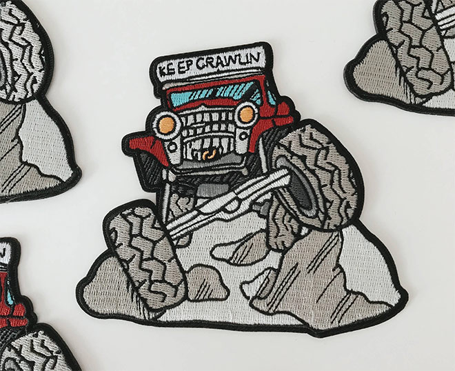 Keep Crawlin' Off Road Patch by Unexpected Type
