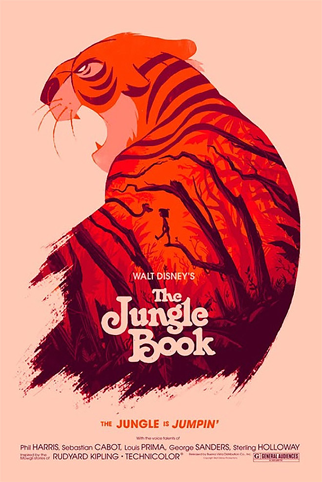 The Jungle Book by Olly Moss#