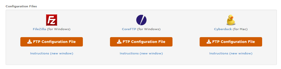 FTP Solution Supported