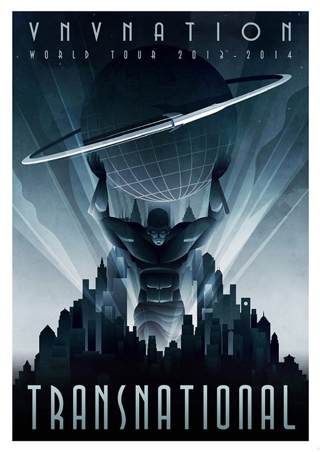 VNV Nation tour poster by Rodolforever