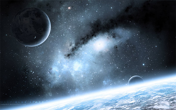 Deep Blue Space by tadp0l3