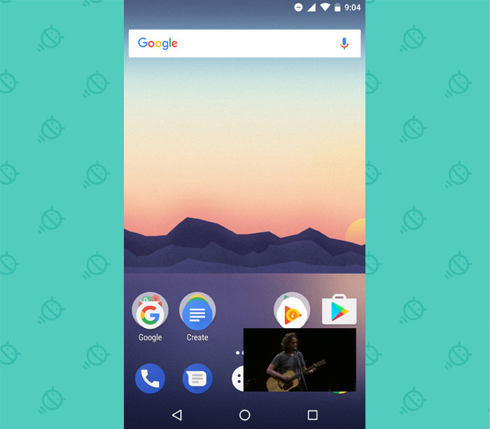 Picture in picture feature in Android one