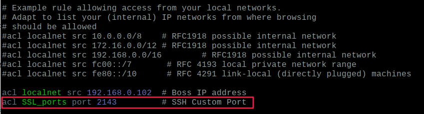 Add Ports in Squid Proxy