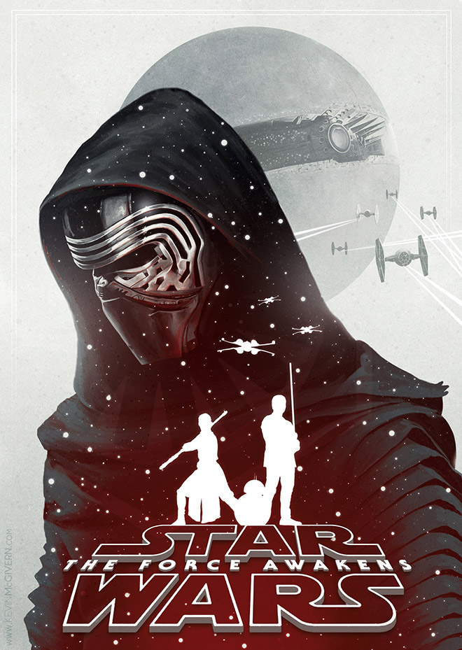 Star Wars The Force Awakens Alternative Poster by Kevin McGivern