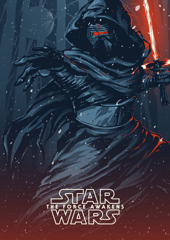 Kylo Ren: Star Wars The Force Awakens by Shulyak Brothers