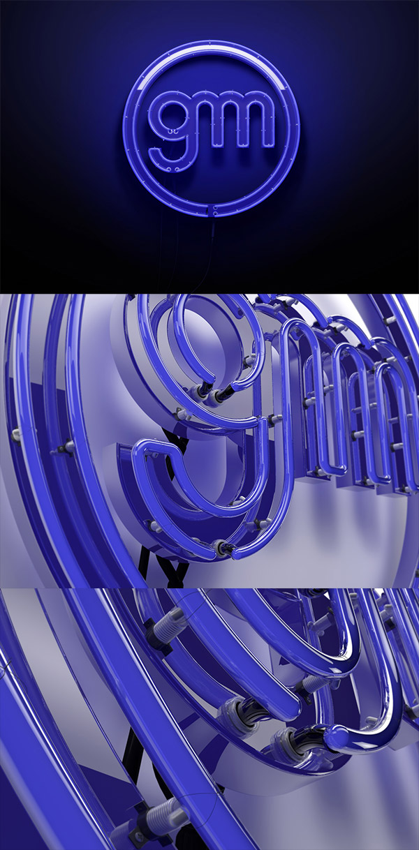 3D Neon Sign by Giu Magnani