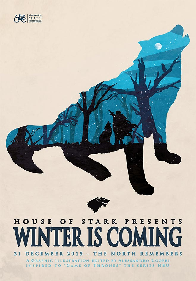 Game of Thrones Poster Series by Alessandro Uggeri