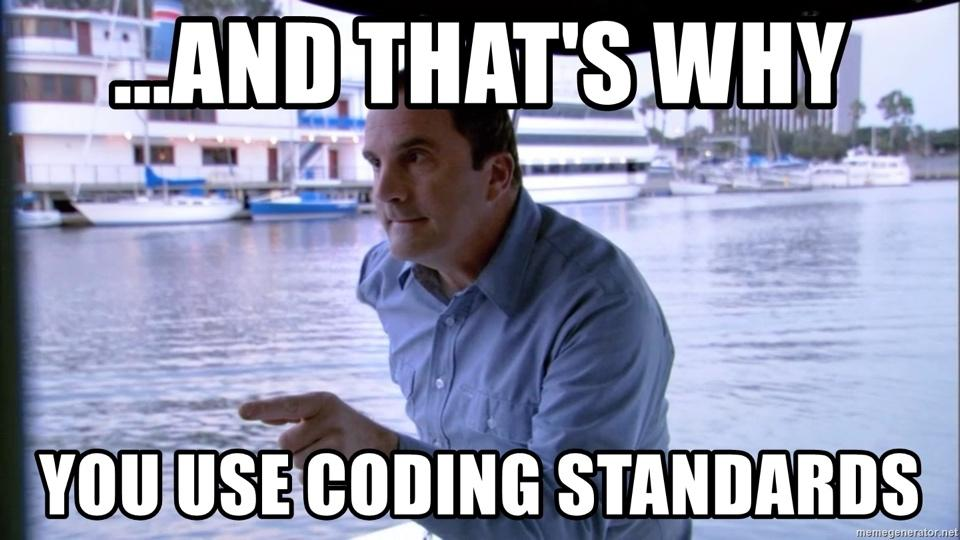 Image result for WordPress coding standards meme