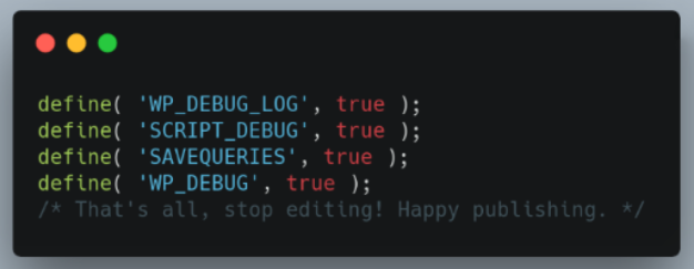 WP Debugging plugin.